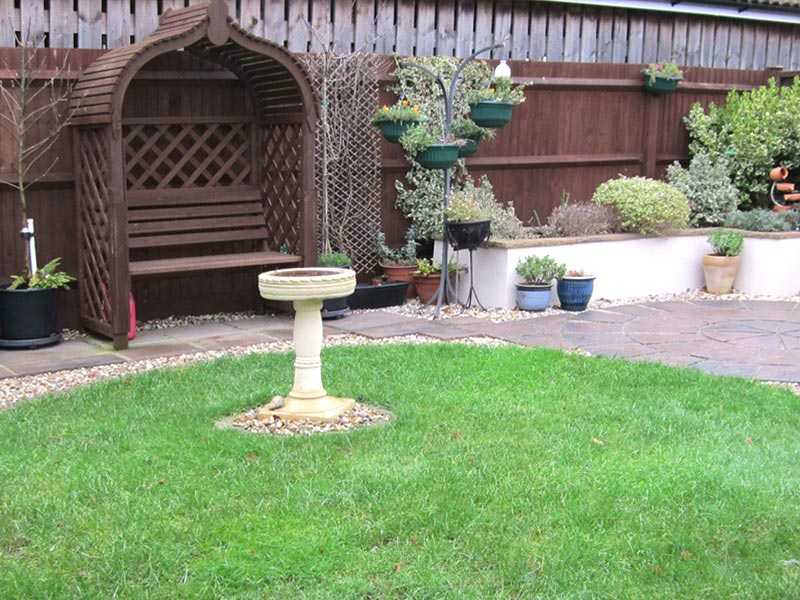 Wooden gazebo and seat