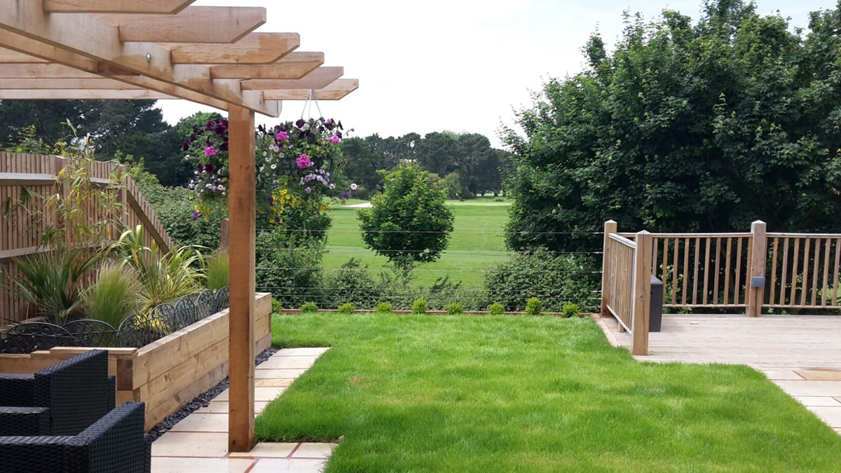 Timber pergola, decking, fencing