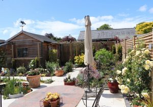 Garden re-development by Shakespeare's Landscapes with porcelain paving.